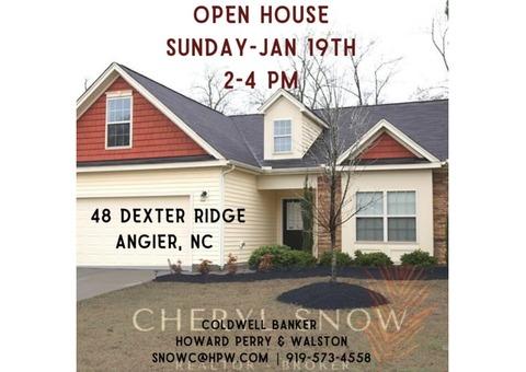 Open House! 48 Dexter Ridge - Angier, NC