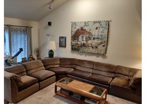 Sectional sofa with sleeper