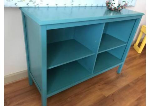 TARGET--Blue open horizontal shelves