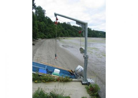 Swing Arm Davit with Winch & Accessories For Sea Walls