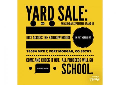 Yard Sale For Lighthouse Christian School